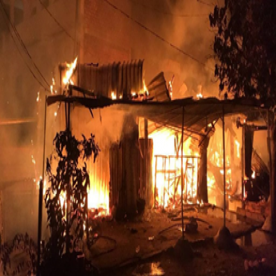 Copper Wire Fire Destroys 5 Houses